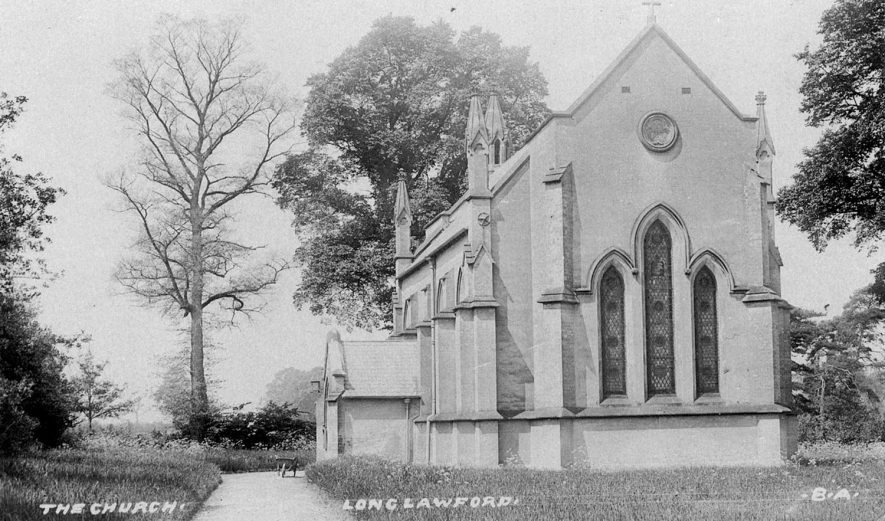 St John's Chapel of Ease, Long Lawford.  1900s |  IMAGE LOCATION: (Warwickshire County Record Office)