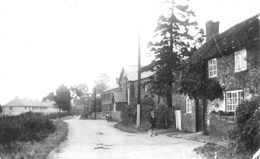 Chapel Street, Long Lawford.  1920s |  IMAGE LOCATION: (Warwickshire County Record Office)