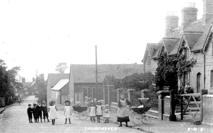 View of part of the village of Churchover.  1900s |  IMAGE LOCATION: (Warwickshire County Record Office)