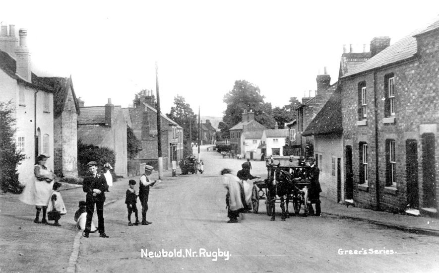 Main Street, Newbold on Avon.  1900s |  IMAGE LOCATION: (Warwickshire County Record Office)