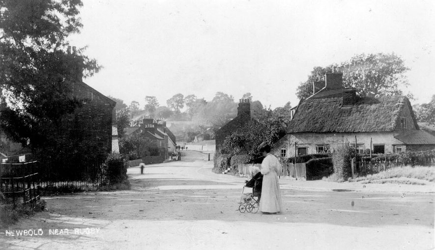 A street in Newbold on Avon.  1900s |  IMAGE LOCATION: (Warwickshire County Record Office)
