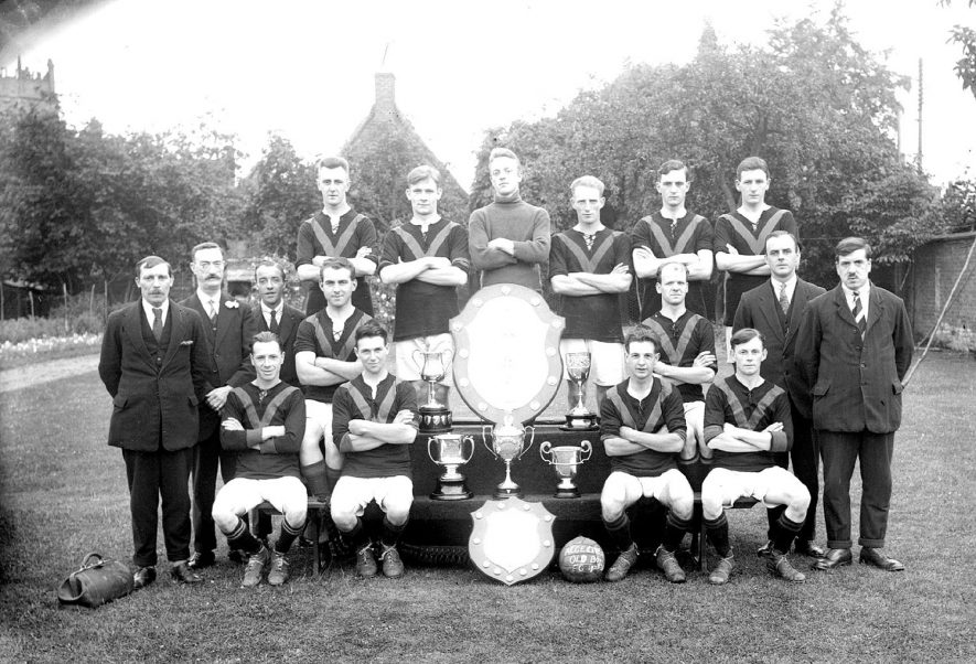 Alcester old boys football club team photograph.  1923/4 |  IMAGE LOCATION: (Warwickshire County Record Office)