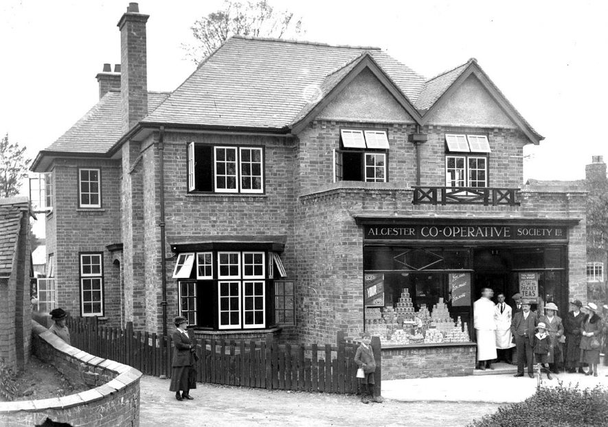 Alcester Co-op Society Shop. High Street. 1930s [the house has been identified as being in Snitterfield] |  IMAGE LOCATION: (Warwickshire County Record Office)