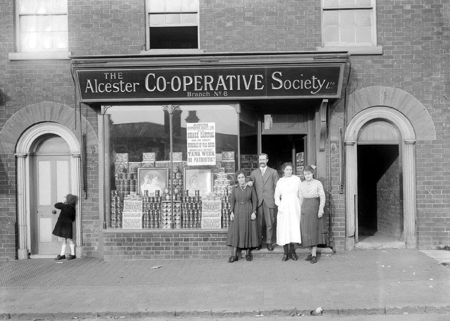 Alcester Co-op Society grocery stores.  1917/18 |  IMAGE LOCATION: (Warwickshire County Record Office)