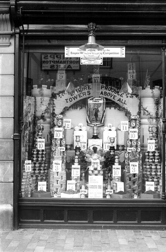 Shop window competition in Alcester.  1927 |  IMAGE LOCATION: (Warwickshire County Record Office)