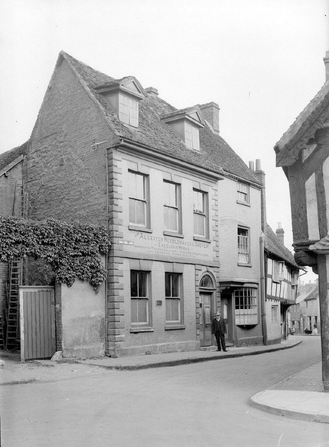 Excelsior Works in Malt Mill Lane, Alcester Needle Makers Society, Alcester.  1930s |  IMAGE LOCATION: (Warwickshire County Record Office)