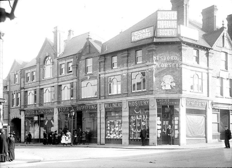 Alcester Co-op Society Main Stores, High Street, Alcester.  1920s