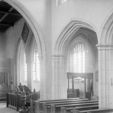 Coughton.  Church interior