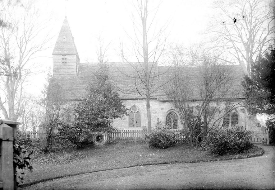 Kinwarton Church.  1930s |  IMAGE LOCATION: (Warwickshire County Record Office)