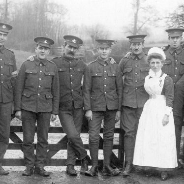 Brailes, Lower.  Soldiers and a nurse