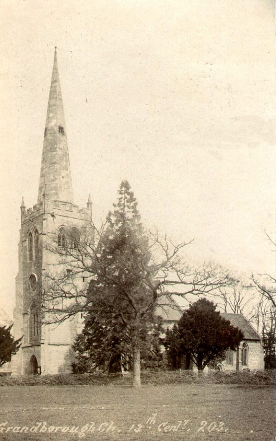Exterior of St Peter's Church, Grandborough. 1900s |  IMAGE LOCATION: (Warwickshire County Record Office)