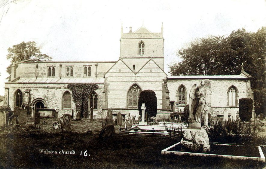 Exterior of St Margaret's church, Wolston.  1900s |  IMAGE LOCATION: (Warwickshire County Record Office)