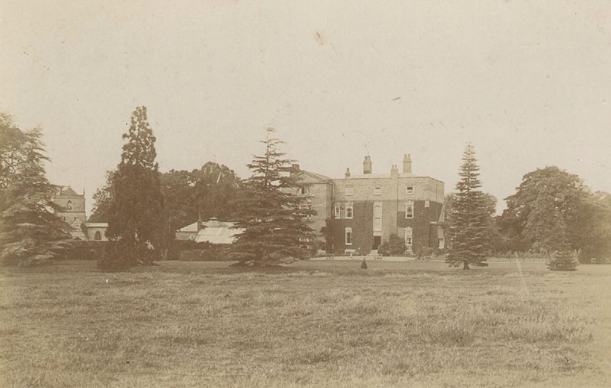 Wolston Manor and St Margaret's church.  1900s |  IMAGE LOCATION: (Warwickshire County Record Office)