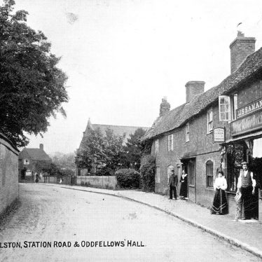 Wolston.  Station Road and Oddfellows Hall