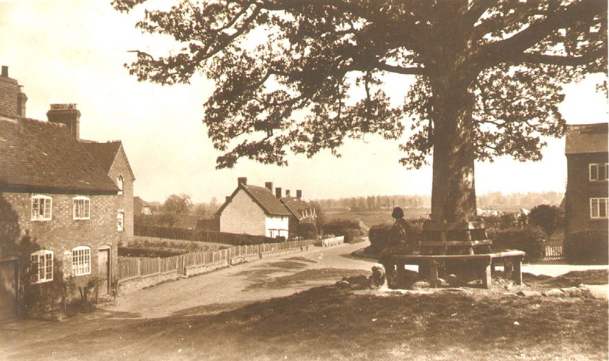 Brandon village as seen from the War Memorial.  1920s |  IMAGE LOCATION: (Warwickshire County Record Office)