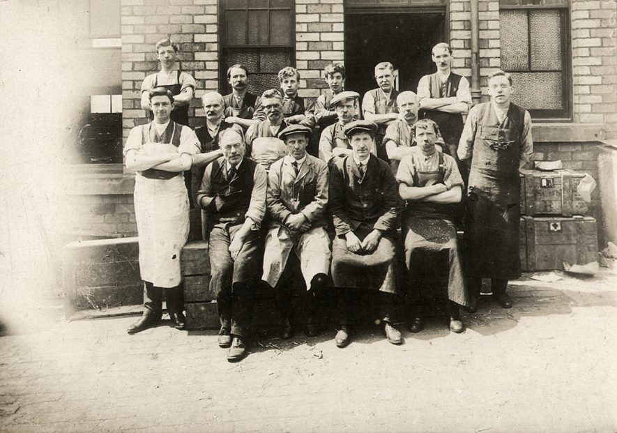 A group of workers, possibly with the District Council, Alcester.  1900s |  IMAGE LOCATION: (Warwickshire County Record Office)