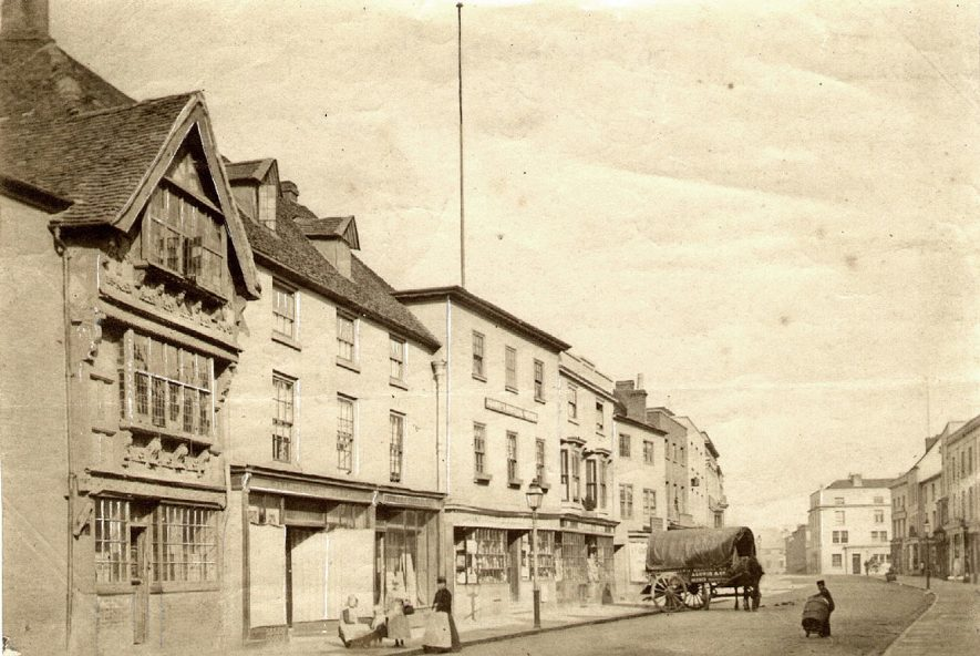 High Street, Stratford upon Avon.  1870s |  IMAGE LOCATION: (Warwickshire County Record Office)