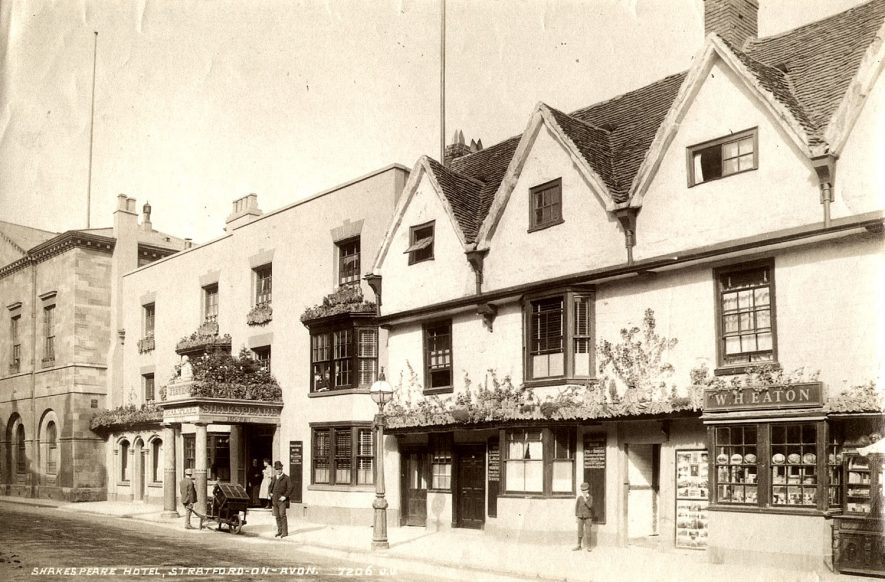 Shakespeare Hotel, Chapel Street, Stratford upon Avon.  1870s |  IMAGE LOCATION: (Warwickshire County Record Office)