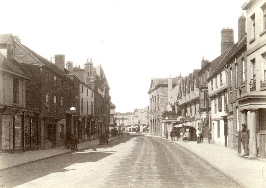 View along Chapel Street, Stratford upon Avon.  1880s |  IMAGE LOCATION: (Warwickshire County Record Office)