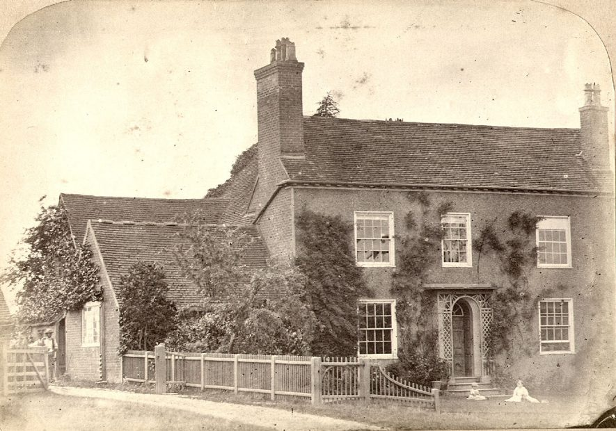 Hayward's House, Oversley Hill  near  Alcester.  1900s |  IMAGE LOCATION: (Warwickshire County Record Office)