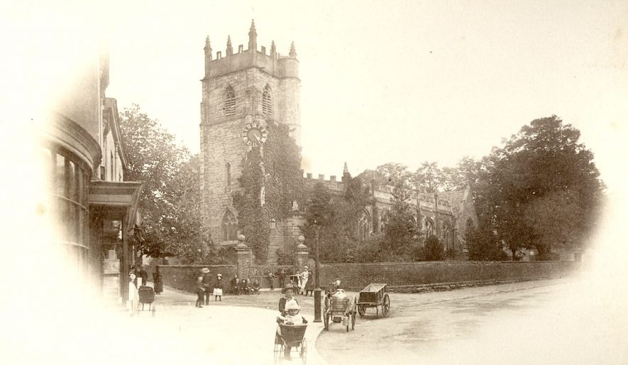 The Parish Church, Alcester.  1900s |  IMAGE LOCATION: (Warwickshire County Record Office)