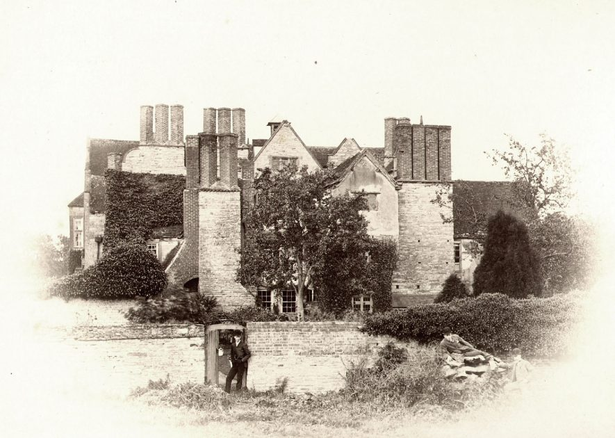 The Old Nunnery now, a private house, Abotts Salford.  1890s |  IMAGE LOCATION: (Warwickshire County Record Office)