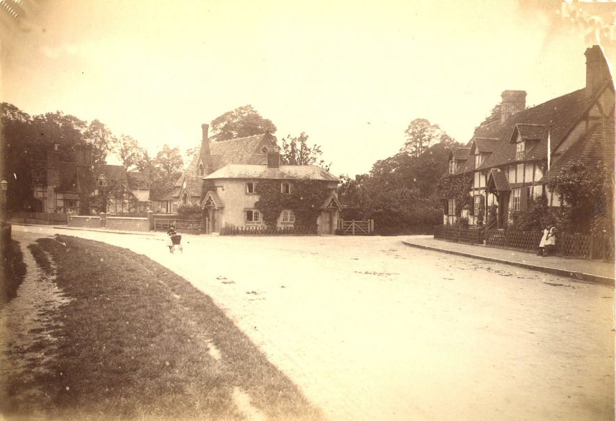 Village view of Arrow.  1900s |  IMAGE LOCATION: (Warwickshire County Record Office)