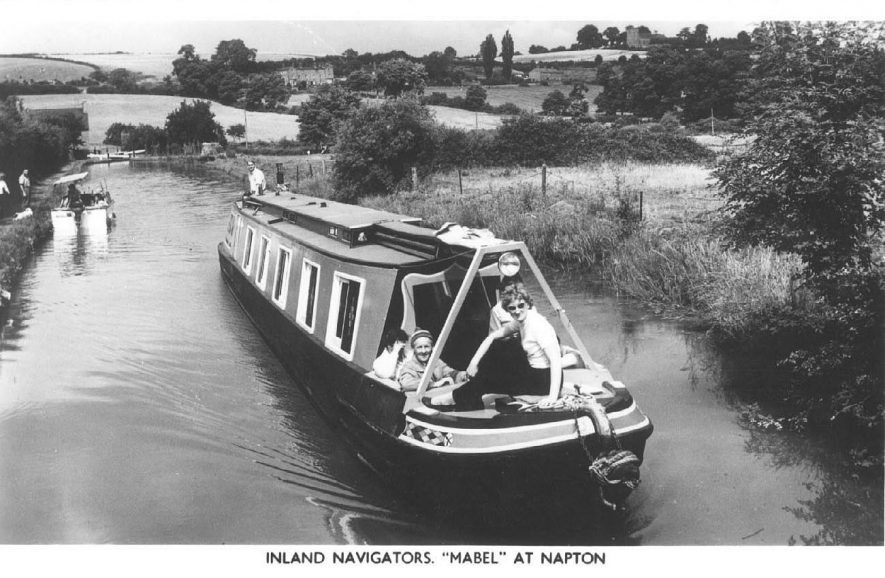 'Mabel at Napton'.  Pleasure narrow boat on the Oxford Canal.  1960s |  IMAGE LOCATION: (Warwickshire County Record Office)