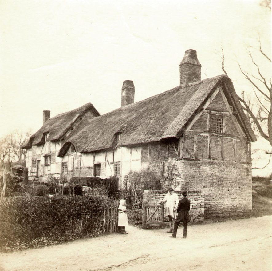 Anne Hathaway's Cottage at Shottery.  1860s |  IMAGE LOCATION: (Warwickshire County Record Office)