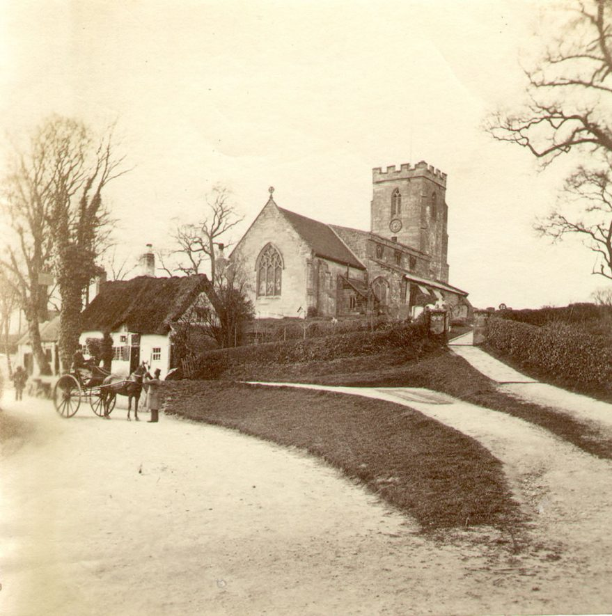 Bishops Tachbrook Church exterior.  1860s |  IMAGE LOCATION: (Warwickshire County Record Office)