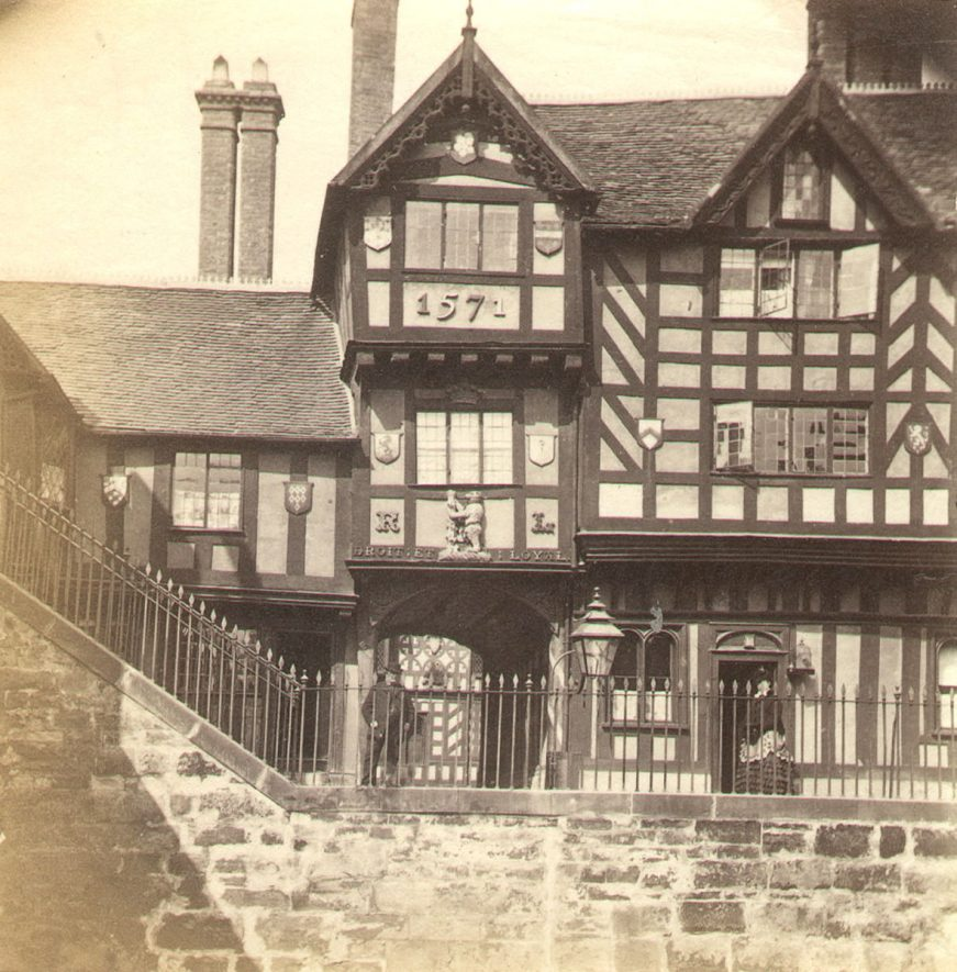 Part of the Leycester Hospital, Warwick.  1860s |  IMAGE LOCATION: (Warwickshire County Record Office)