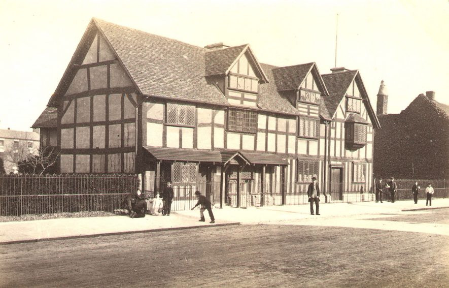 Shakespeare's House, Henley Street, Stratford upon Avon. After the 'restorations' of 1857 - 1864. |  IMAGE LOCATION: (Warwickshire County Record Office)