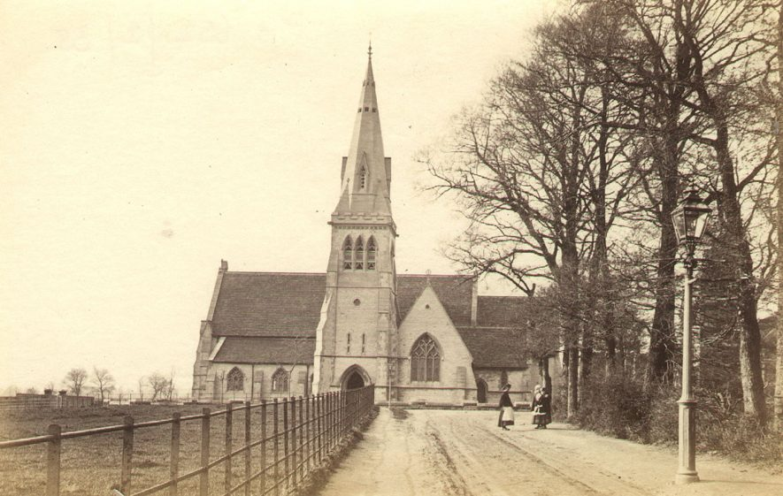 All Saints Church Emscote, Warwick.  1860s |  IMAGE LOCATION: (Warwickshire County Record Office)