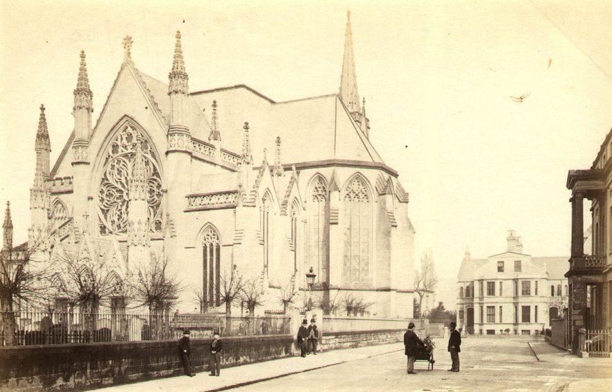 All Saints Church, Leamington Spa.  1860s    IMAGE LOCATION: (Warwickshire County Record Office)