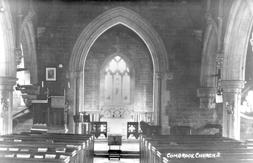 Church of Saint Mary & Margaret interior, Combrook.  1920s |  IMAGE LOCATION: (Warwickshire County Record Office)