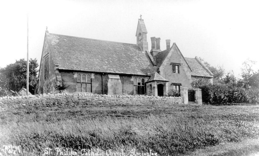 Ilmington Roman Catholic Church.  1930s |  IMAGE LOCATION: (Warwickshire County Record Office)