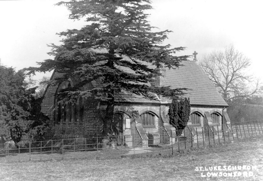St Luke's Church, Lowsonford.  1920s |  IMAGE LOCATION: (Warwickshire County Record Office)