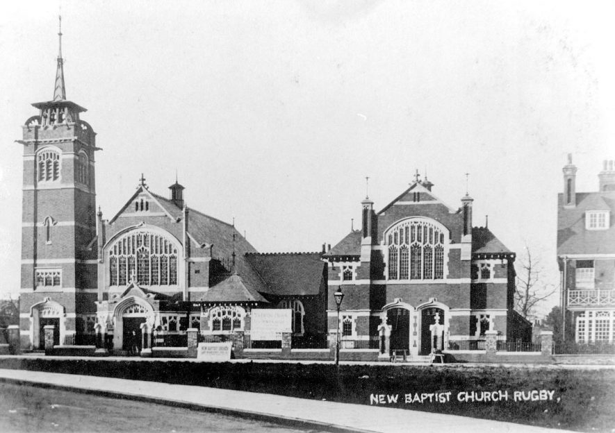 The New Baptist Church, Rugby.  1900s |  IMAGE LOCATION: (Warwickshire County Record Office)