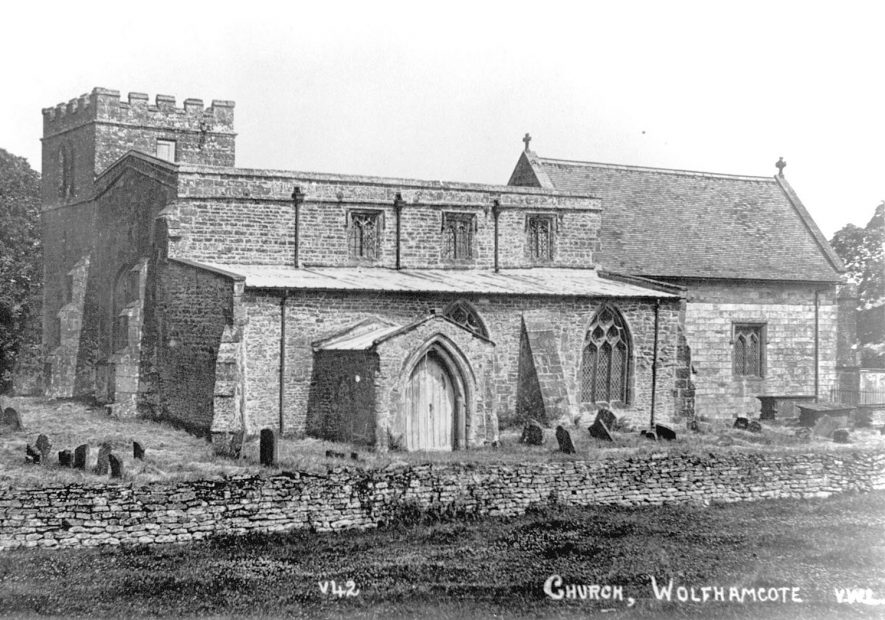 St Peter's Church, now redundant, Wolfhampcote.  1930s |  IMAGE LOCATION: (Warwickshire County Record Office)