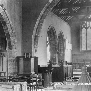 Wolfhampcote.  Church interior