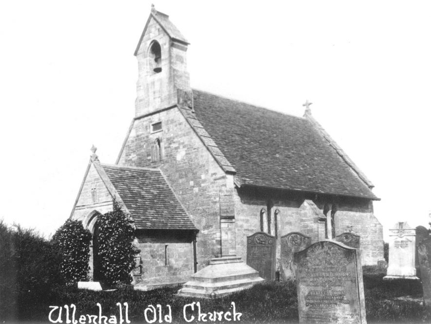 Ullenhall old church.  1930s |  IMAGE LOCATION: (Warwickshire County Record Office)