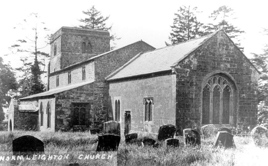 St Peter's Church, Wormleighton.  1920s    IMAGE LOCATION: (Warwickshire County Record Office)