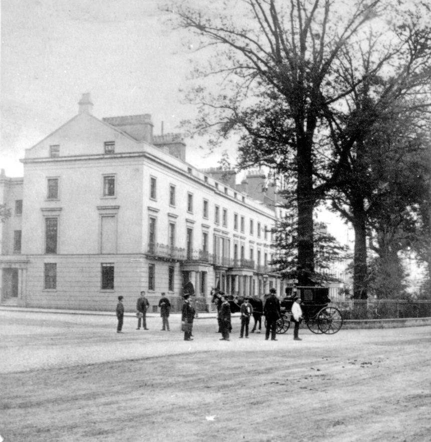 Euston Place, Leamington Spa.  1860s |  IMAGE LOCATION: (Warwickshire County Record Office)