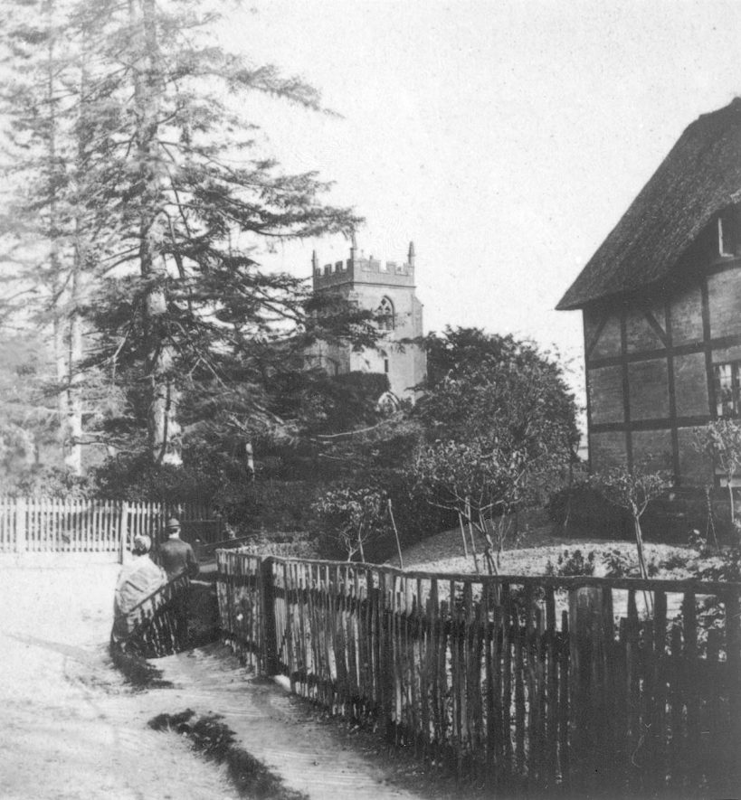 The Assumption of Our Lady Church, Ashow.  1880s |  IMAGE LOCATION: (Warwickshire County Record Office)