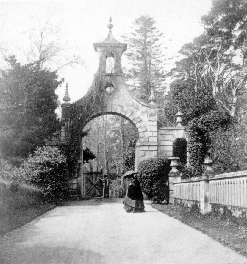 The White Gateway at Guy's Cliffe, Warwick.  1860s |  IMAGE LOCATION: (Warwickshire County Record Office)