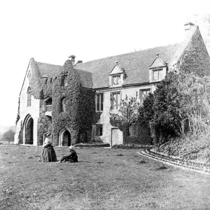 Stoneleigh Abbey gatehouse.  1860s |  IMAGE LOCATION: (Warwickshire County Record Office)