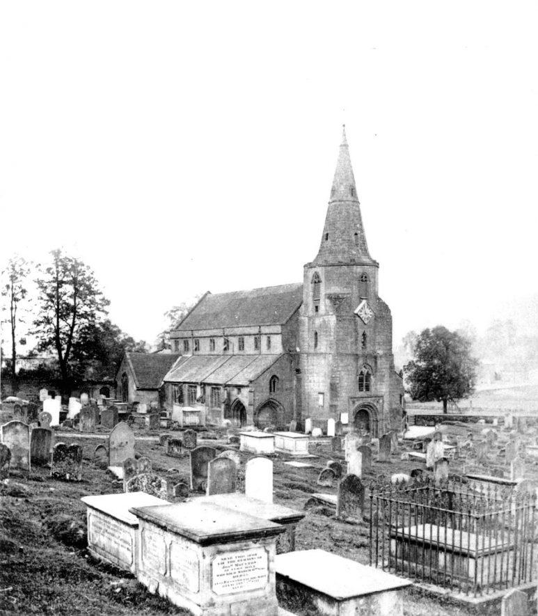 St Nicholas Church, Kenilworth.  1860s |  IMAGE LOCATION: (Warwickshire County Record Office)