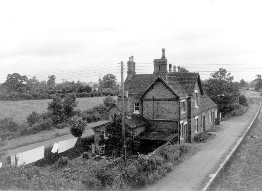 Old Railway Station, Salford Priors.  1930s It has suggested that 1930s is doubtful since there are no railway lines in photo and suggest that it was after Dr Beechings' axe and believe it to be 1963. |  IMAGE LOCATION: (Warwickshire County Record Office)