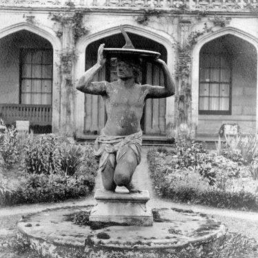 Warwick.  Guy's Cliffe, garden statue