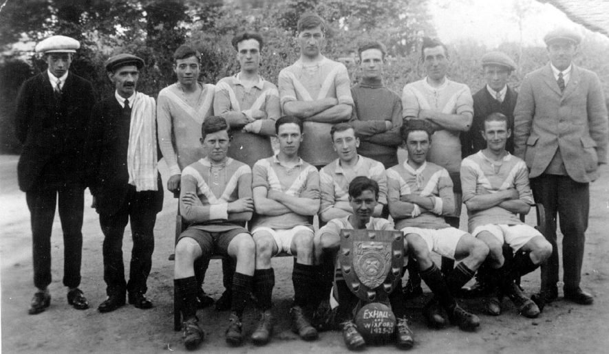 Wixford and Exhall football team.  1923-24 |  IMAGE LOCATION: (Warwickshire County Record Office)